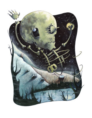 Graphic Skeleton illustration