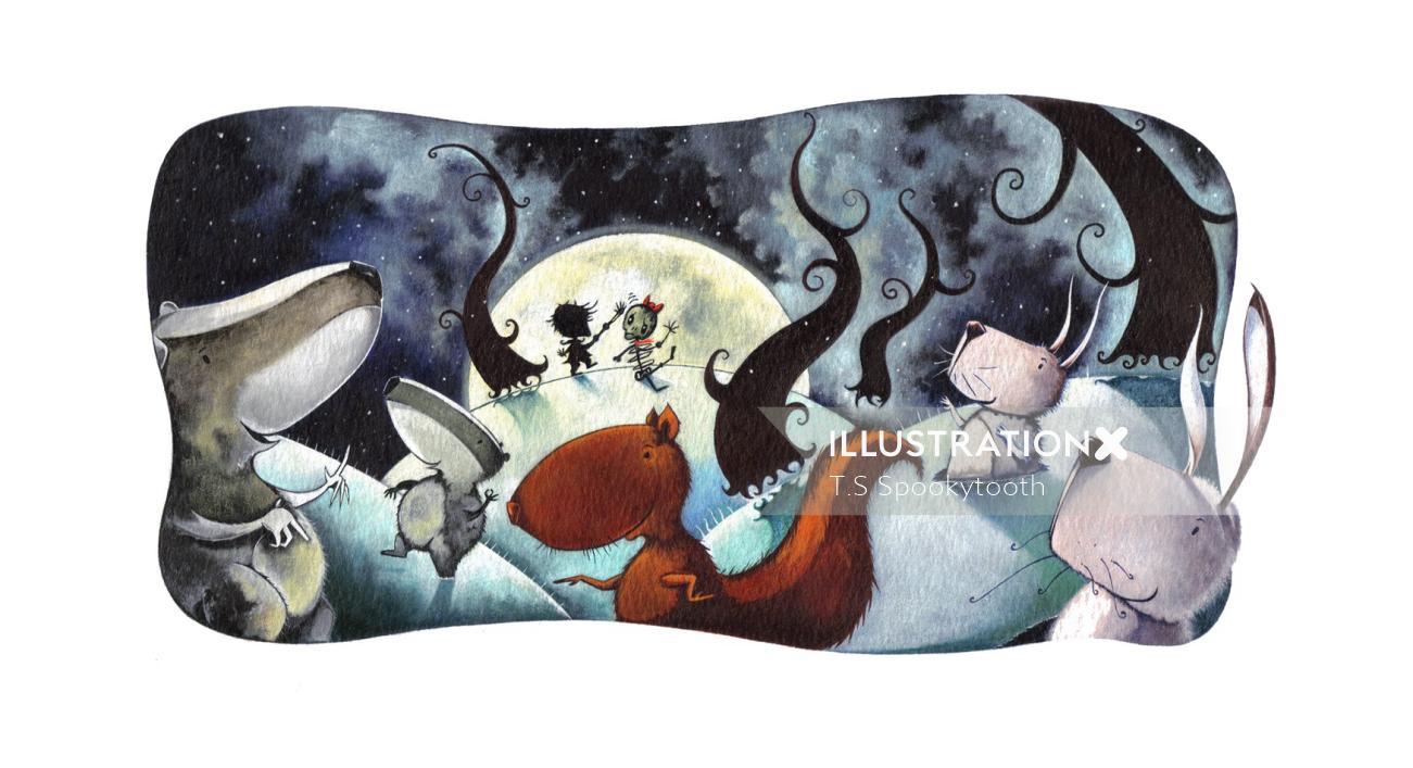 Children's book illustration for Fearless Flynn