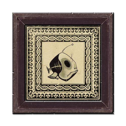 Skeleton fish illustration