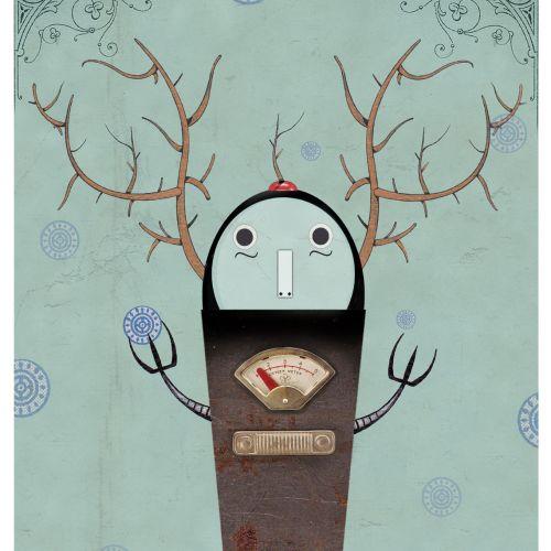 Hand Drawing Of Deer Robot