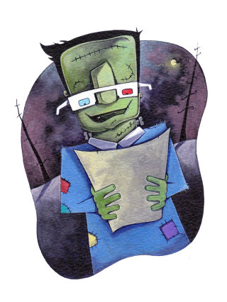 Frankenstein's Monster illustration