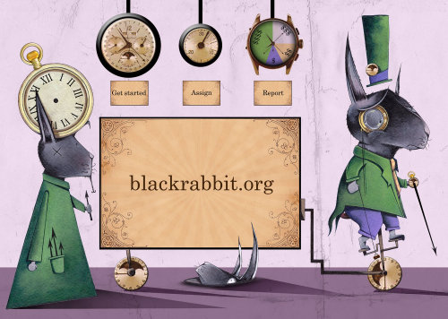 Blackrabbits website landing page illustration