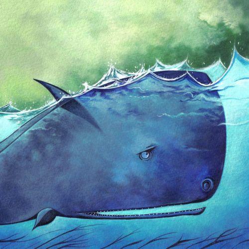 Watercolor painting of Shark Fish