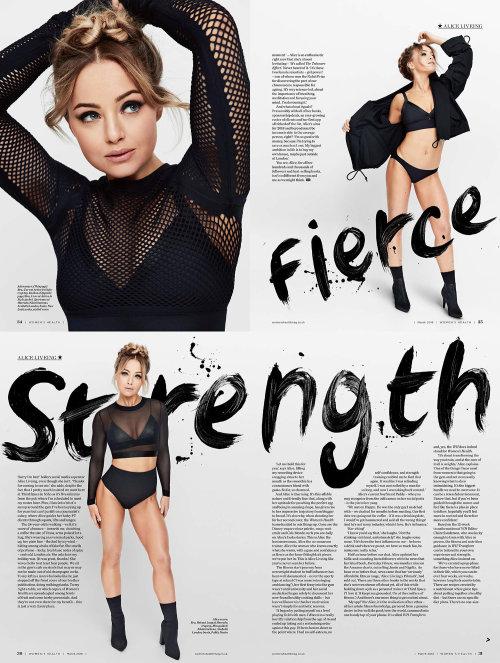 Editorial artwork of fierce strength