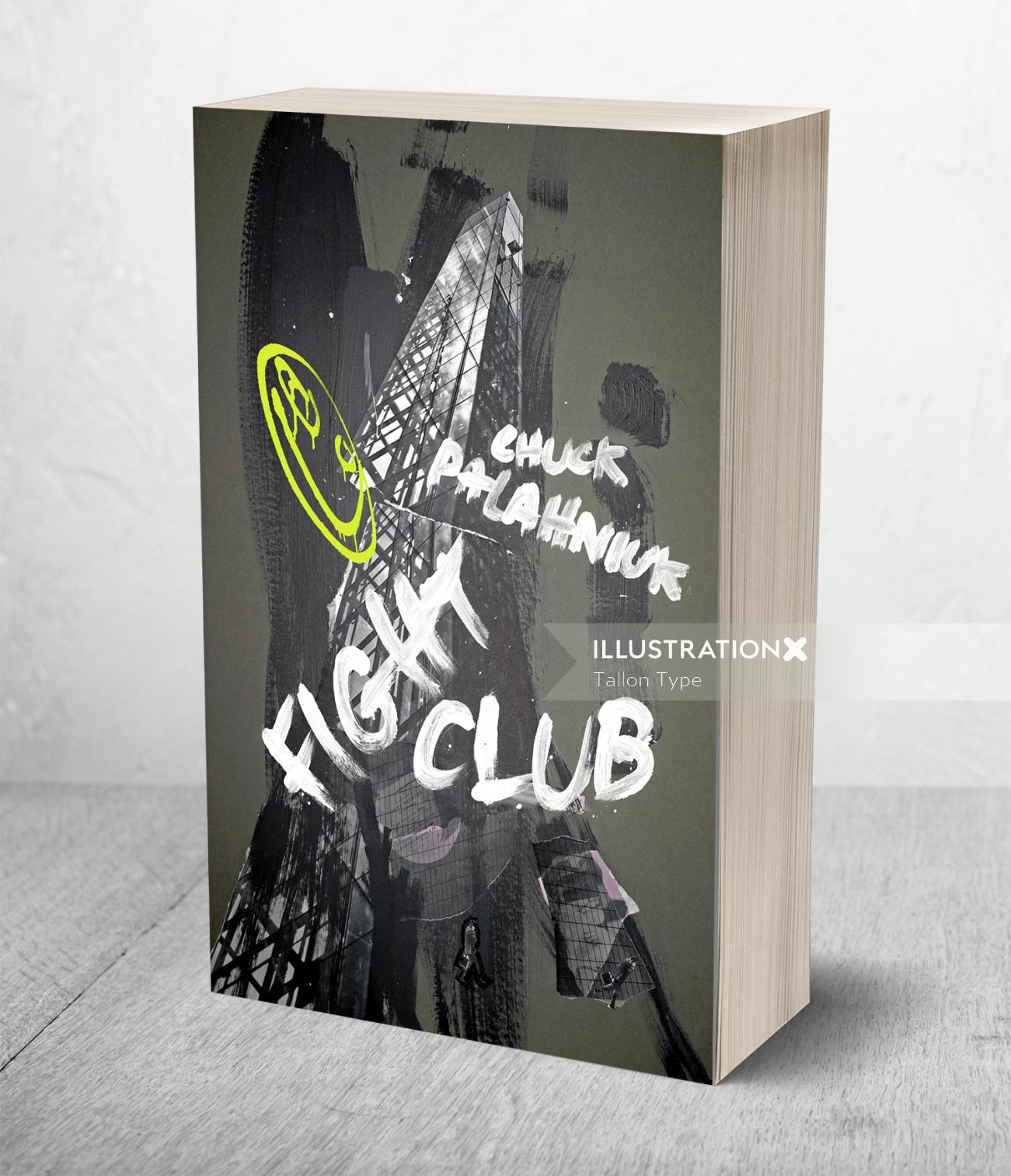 Chuck Palahniuk's Fight Club book cover illustration