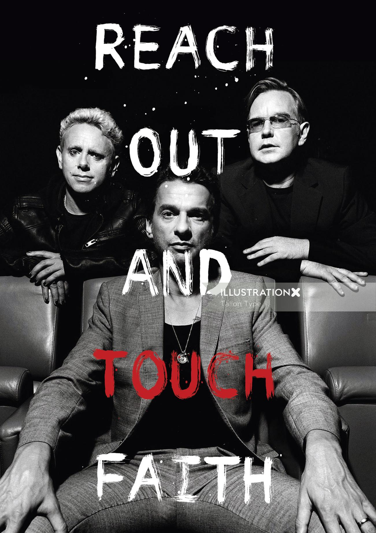 Out and touch lettering by Tallon Type