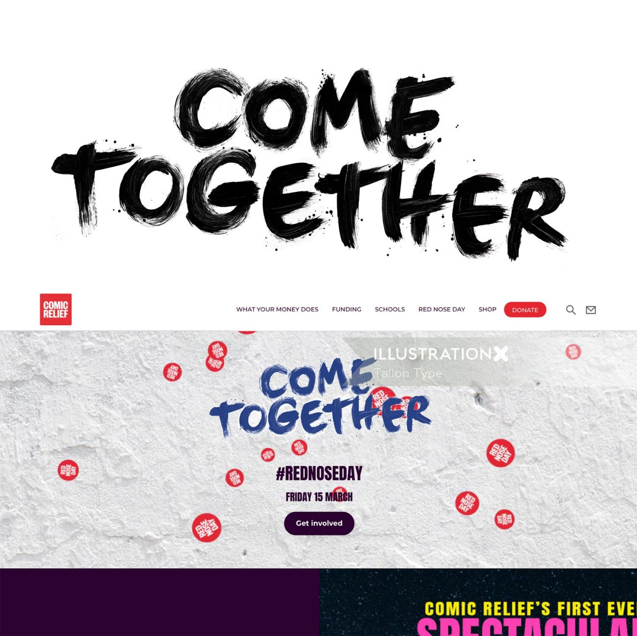 Lettering art of come together
