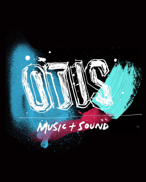 Otis music studio australia hand lettering