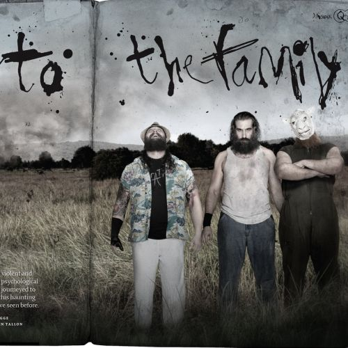 Lettering design for WWE's Wyatt Family