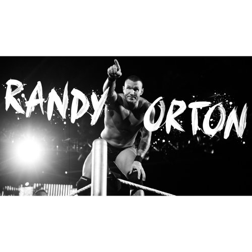 Poster design for wwe world heavyweight champion Randy Orton