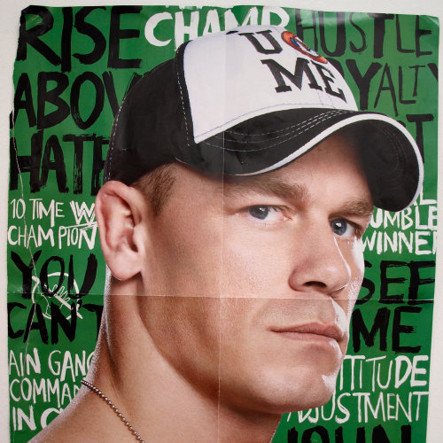 Lettering poster design for wwe Superstar John Cena