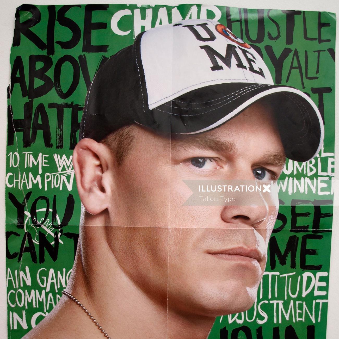 Lettering poster design for wwe Superstar John Cena