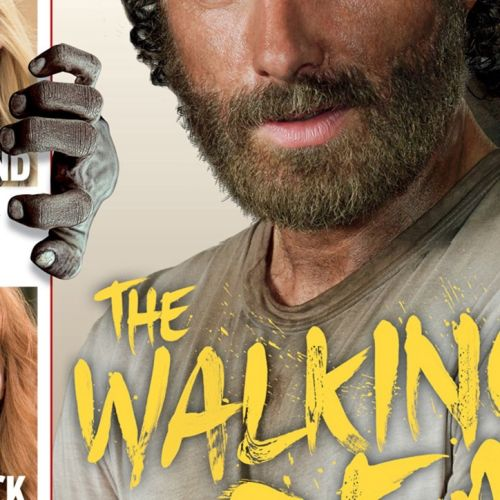 Hand lettering for 'The Walking Dead Season 5' TV premiere