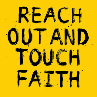 Reach out and touch faith lettering art