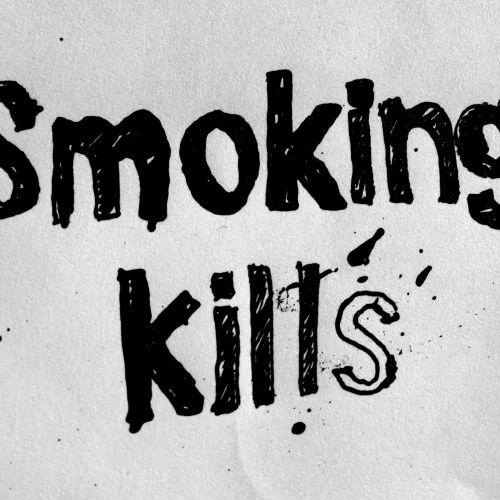 Smokeing kills typography