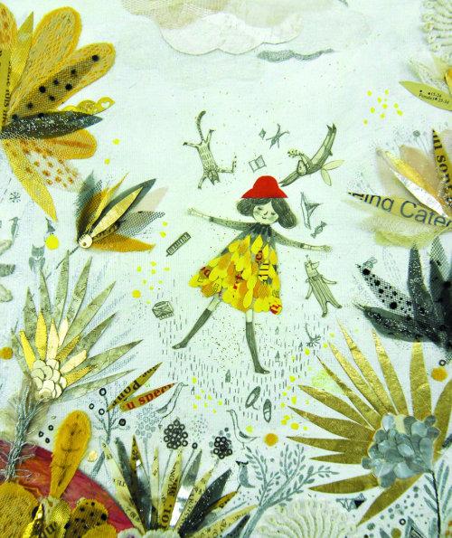 Ilustração de livro infantil para dormir na floresta