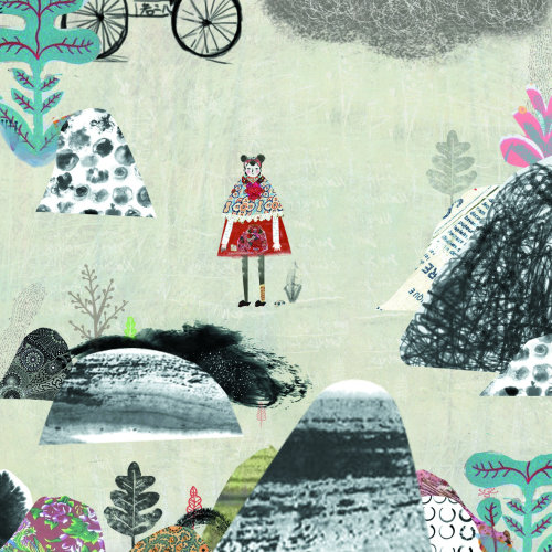 Ilustração de garota solitária