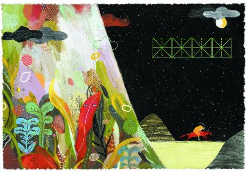 Ilustração decorativa da floresta por Tang Wei