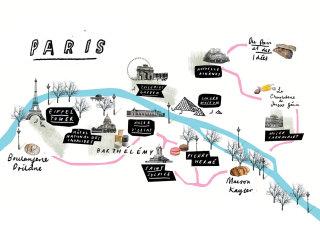 Paris map by Tanya Cooper