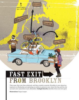 Brooklyn directional map illustration