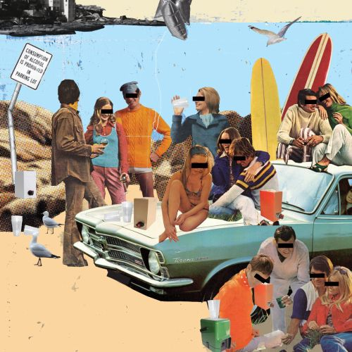 Collage & Montage people at  beach