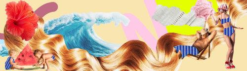 Graphic design of ocean waves