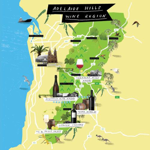 Maps Adelaide Hills Wine Region