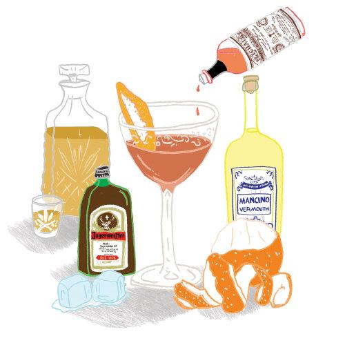 Food & Drinks preparing cocktail