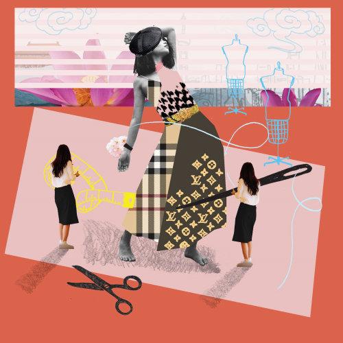 Collage & Montage Fashion designing