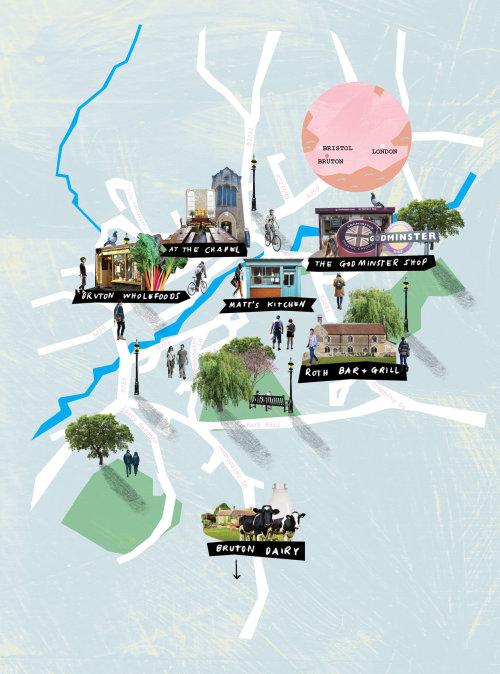 Mapas de colagem e montagem da cidade