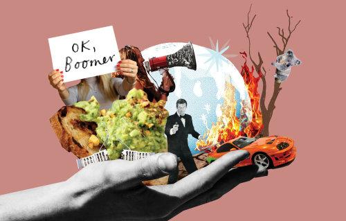 Colagem e montagem gráfica Ok Boomer