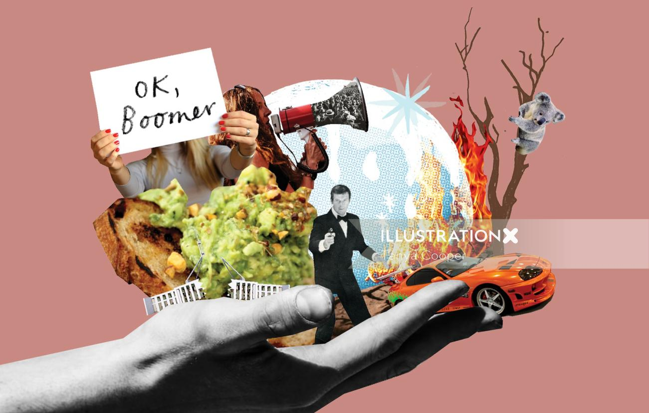 Collage & Montage Graphic Ok Boomer