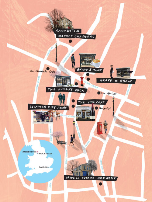 Graphic maps City top view