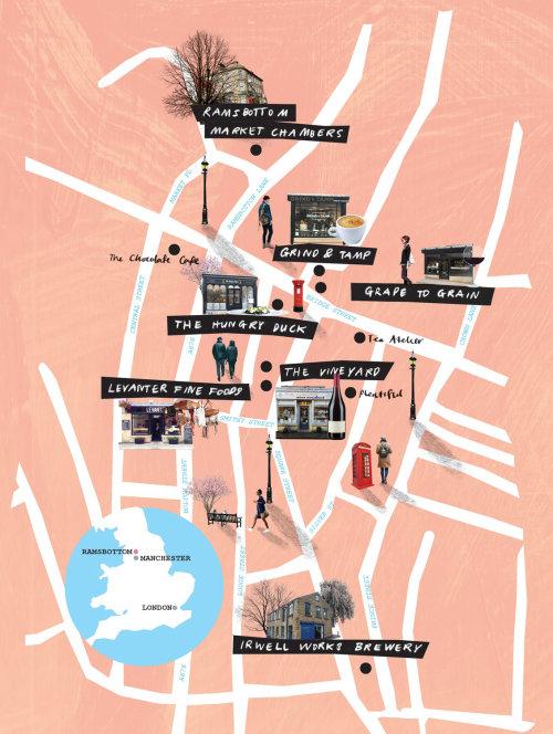 Mapas gráficos Vista superior da cidade