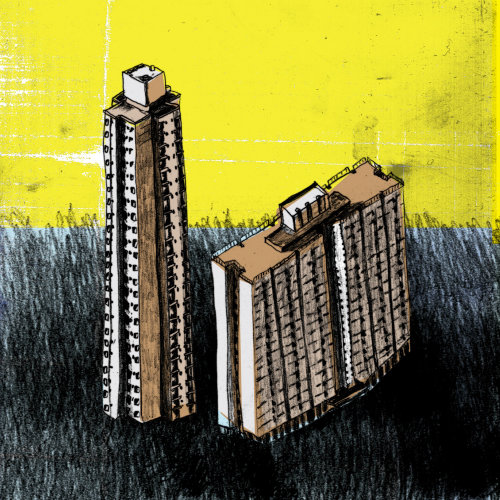 Illustration of buildings