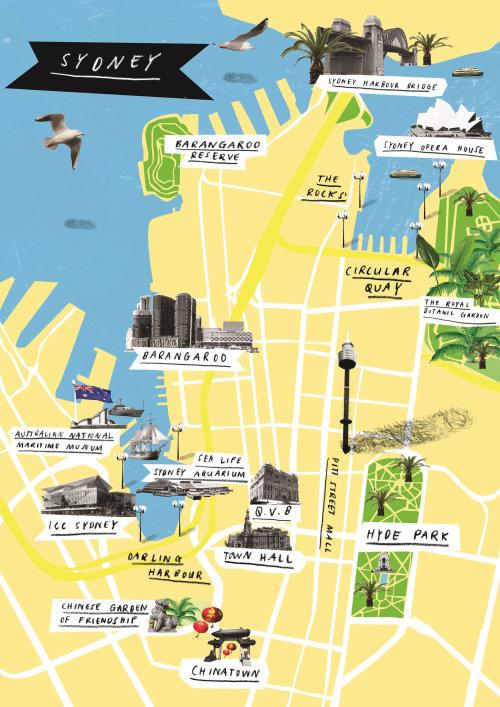 Vista superior do Maps Sydney