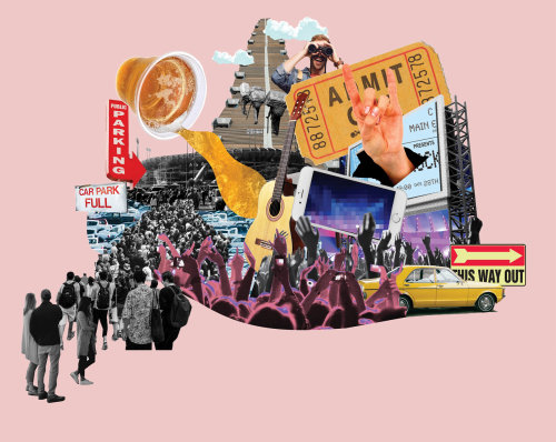 Collage & Montage of entertainment and people