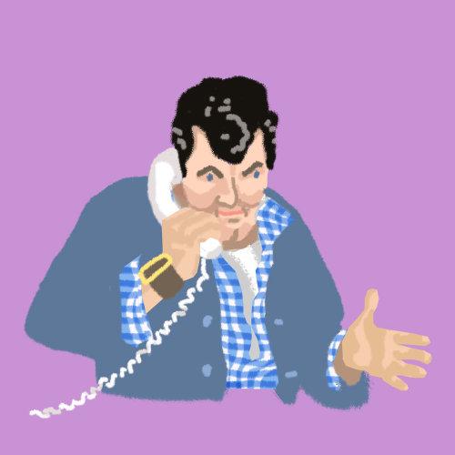Design gráfico de falar ao telefone