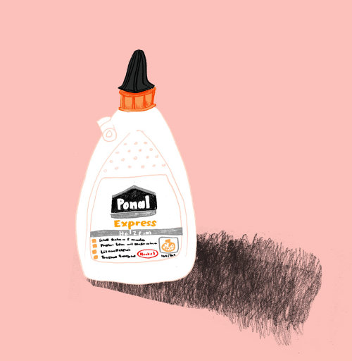 Drawing of pomul express bottle