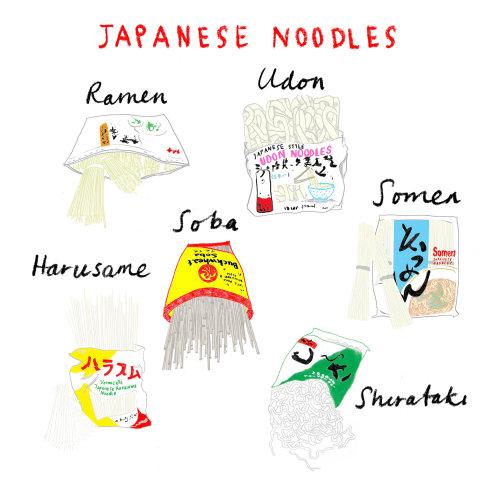 Design gráfico de macarrão japonês