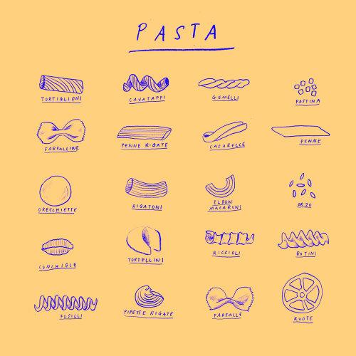 Food & Drink Pasta line art