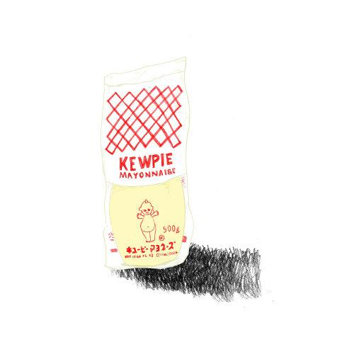 Drawing kewpie mayonnaise