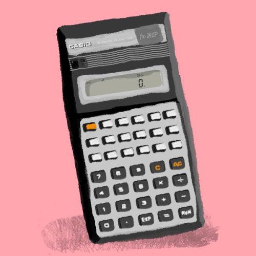 Animation of calculator