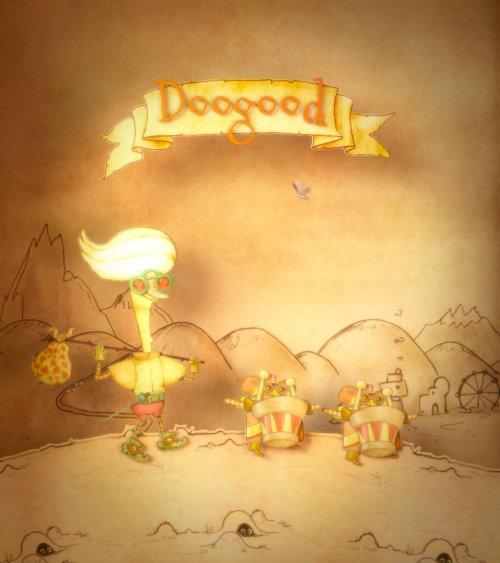 A fairy tale scene of Dandy returns illustration