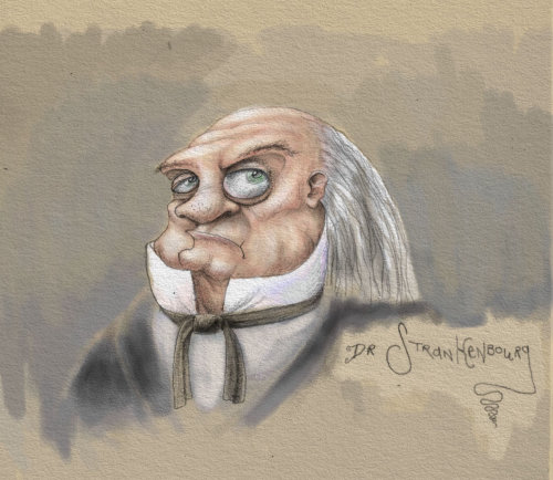 Portrait of Dr Stankenbourg character
