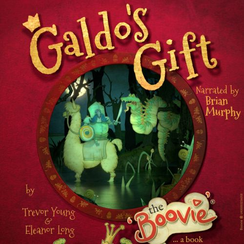 an animated Book cover for 'Galdo's Gift The Boovie'