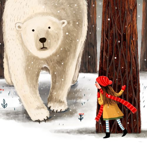 Animal Polar Bear illustration for childhood week event