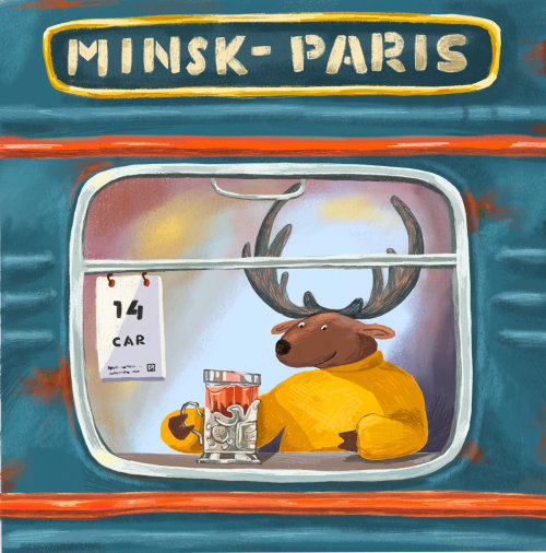 veado, viagem, trem, destino, bebida, chá