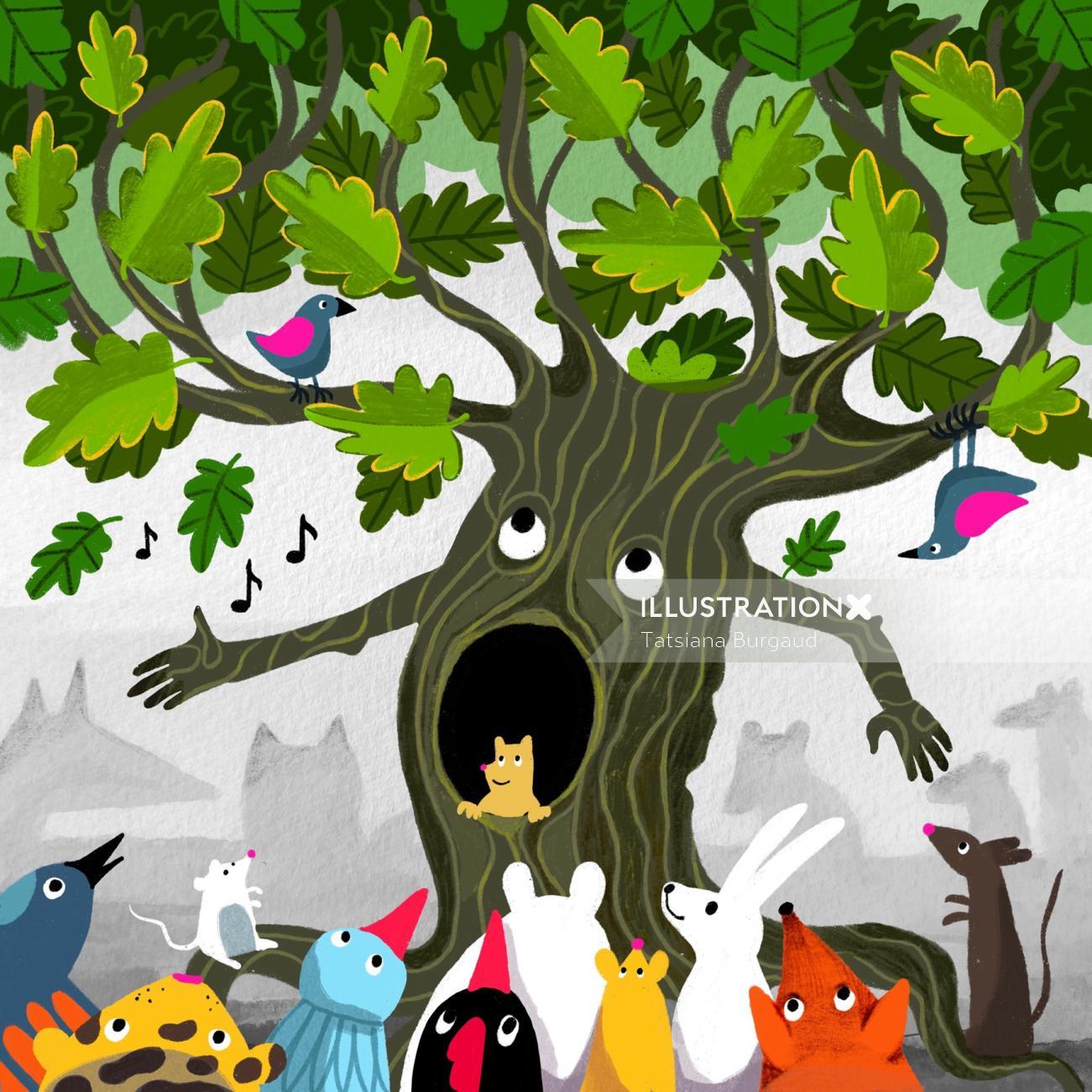 Singing oak