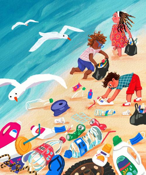 playa, plástico, residuos, basura, limpio, naturaleza